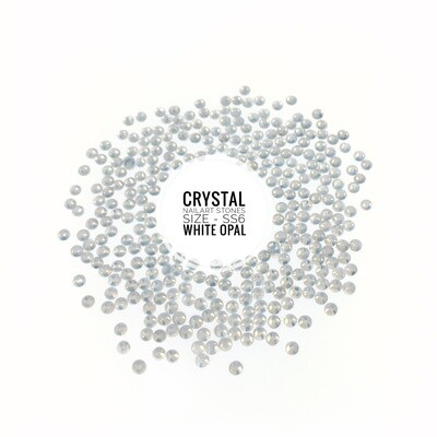 Crystal Stones Witte Opaal ss6, 100 pcs