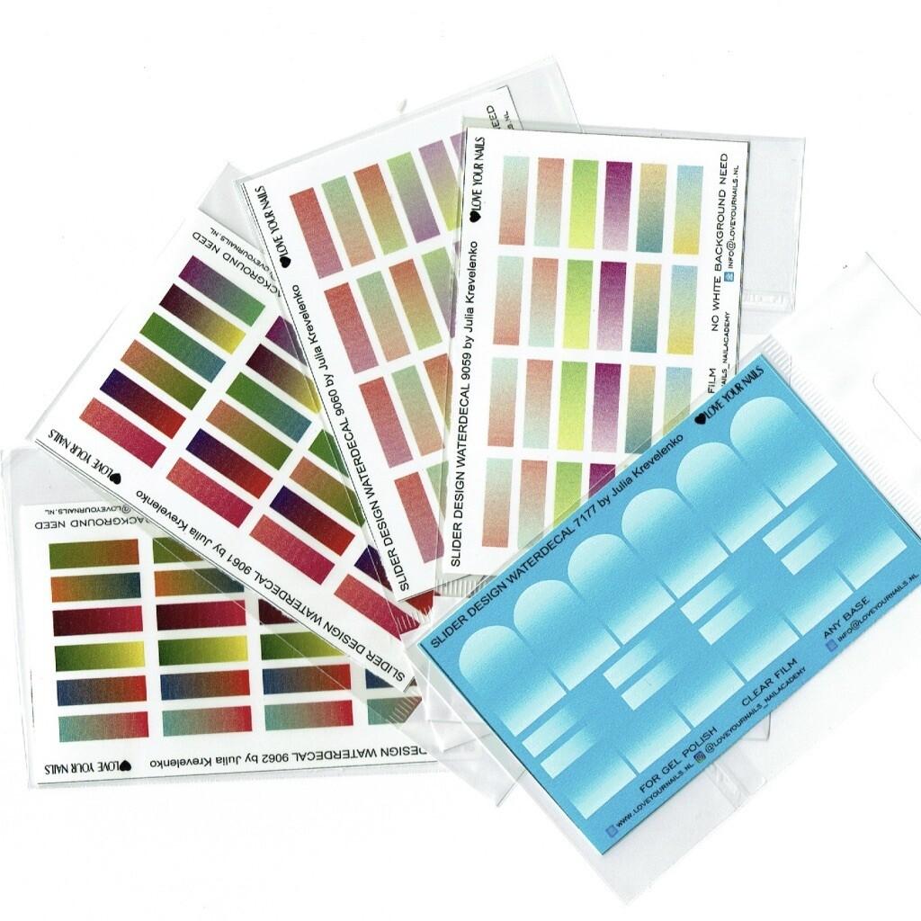 Set of 5 Colorboom & Babyboom Ombre sliders