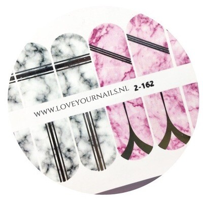 Marble gray and pink with foil 2-162