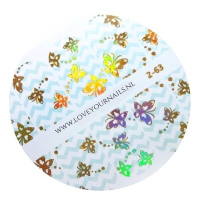 Zigzag with butterflies 2-63