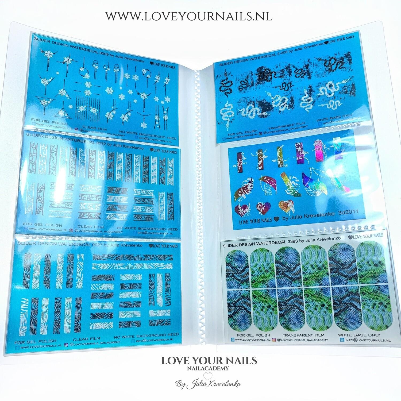 Album filled with 10 sliders design (waterdecals)