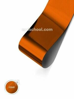 Foil glossy Orange Copper, 1.5 m