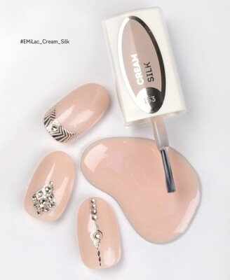 E.MiLac #153 #EMiLac_Cream_Silk — light beige-rose shining shade