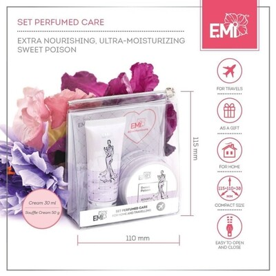 "Set ""Perfumed Care"". Extra-Nourishment and Ultra-Moisturizing Sweet poison"