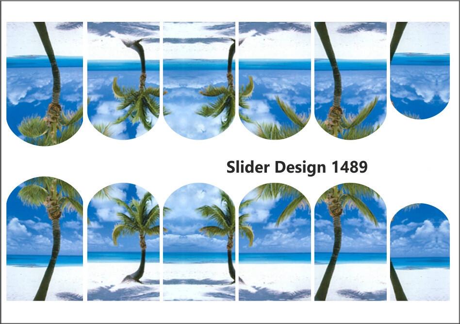 Vakantie palmbomen en zee 1489