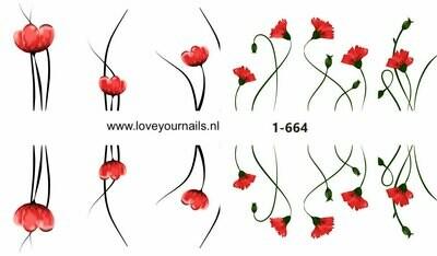 Rode bloemen  1-664