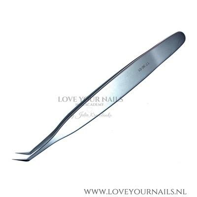 Professional eyelash tweezer expert 40 type 1 (L-shaped 50')