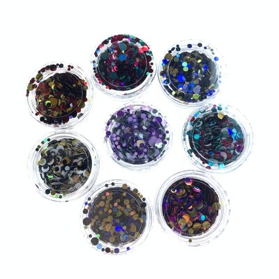 Kamifubuki mix of wel rolly-polly holografisch set 3, 8 pcs