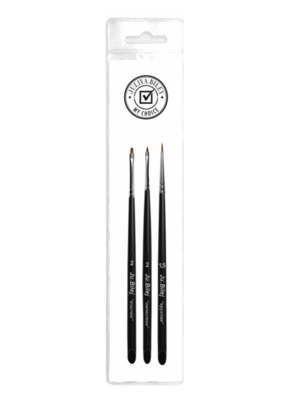 Set of brushes for Zhostovo painting van Ju.Bilej