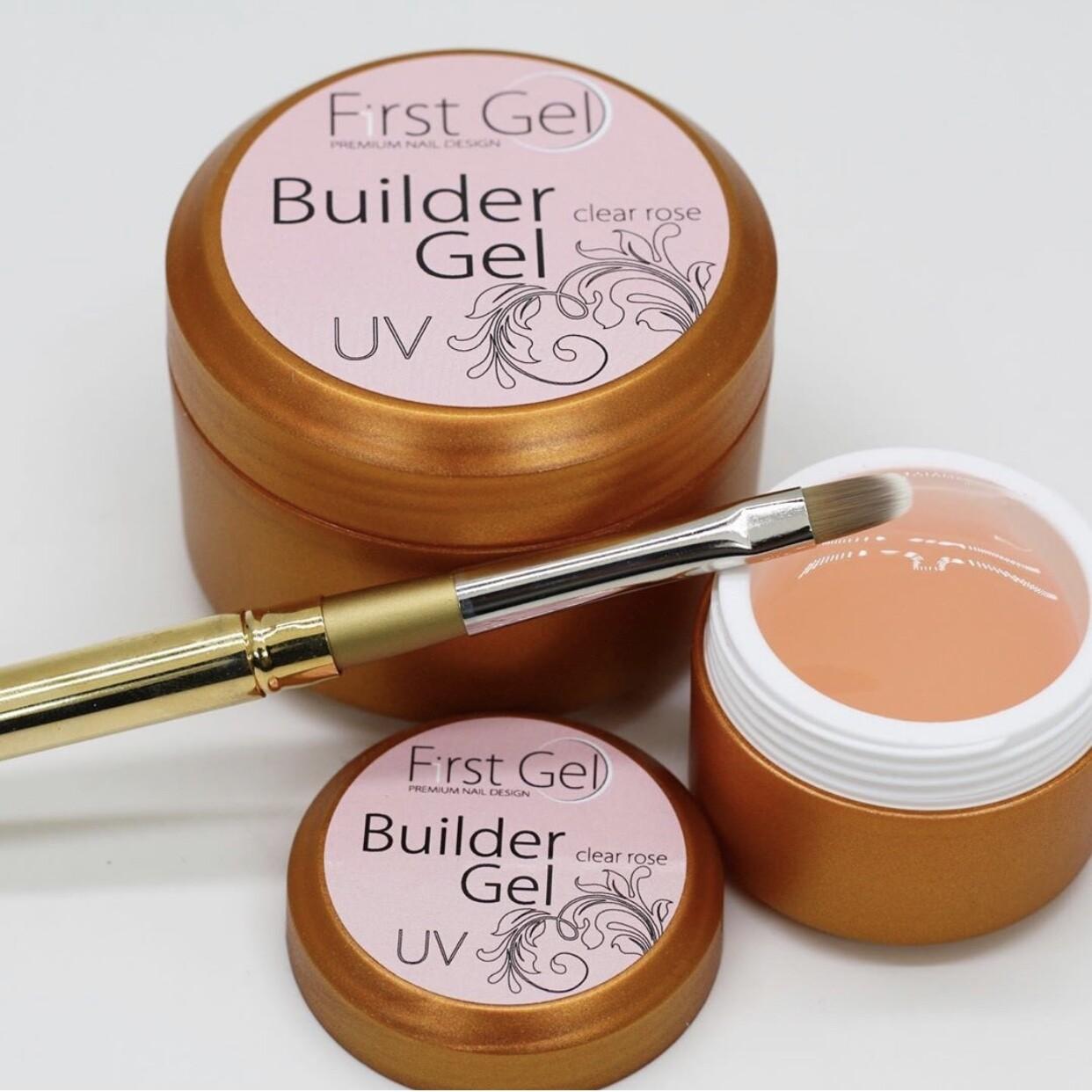 Builder gel clear rose - 15 ml