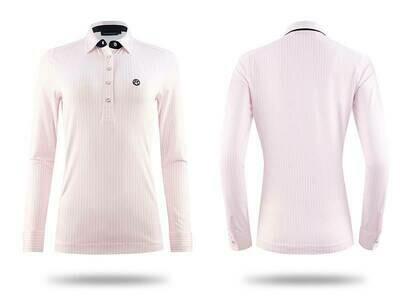 Polo shirt, June, Light Pink/White