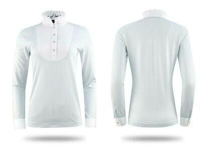 Polo shirt, Doris, Light blue/White