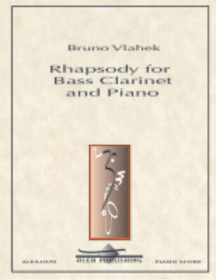 Vlahek: Rhapsody for Bass Clarinet and Piano