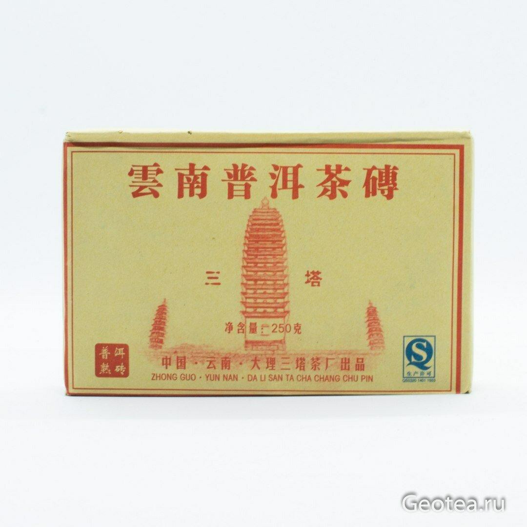 """Чай Пуэр Шу Ча Чжуань """"Саньта"""" 250гр."""