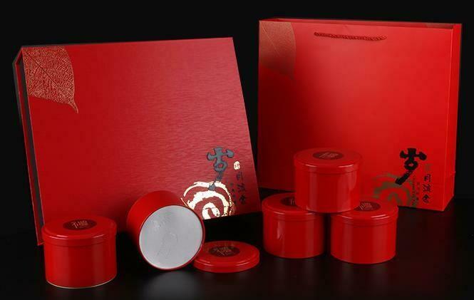 """Подарочный набор для чая """"Золотые годы RED"""" 5 банок"""