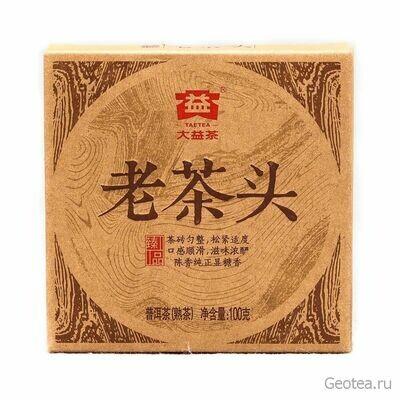 Чай Шу Пуэр Да И Лао Ча Тоу Фанча 100гр.