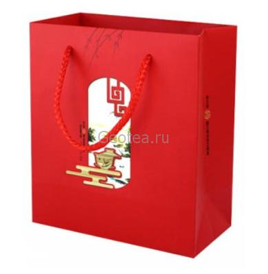 Пакет с ручками, красный