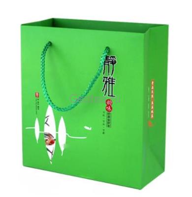 Пакет с ручками, зеленый