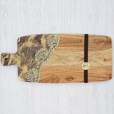 Wine Sari Border Cheese Paddle Board