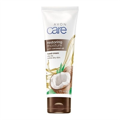 Avon Care Restoring Moisture with Coconut Oil Hand Cream - 75m