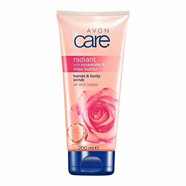 Avon Care Radiant Rosewater & Shea Butter Hands & Body Scrub