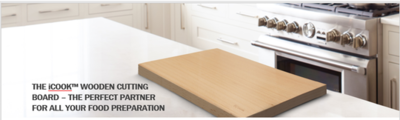 The iCook™ Wooden Cutting Board