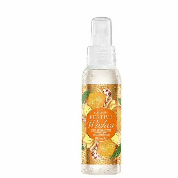 Festive Wishes Sweet Citrus Scented Spritz - 100ml