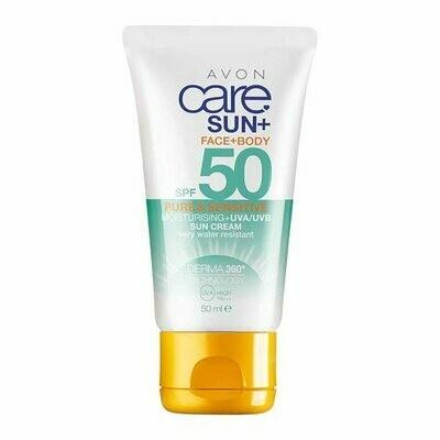 Face & Body Sensitive Moisturising Sun Cream SPF50 - 50ml