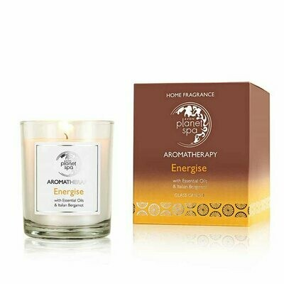 Planet Spa Aromatherapy Energise Glass Candle