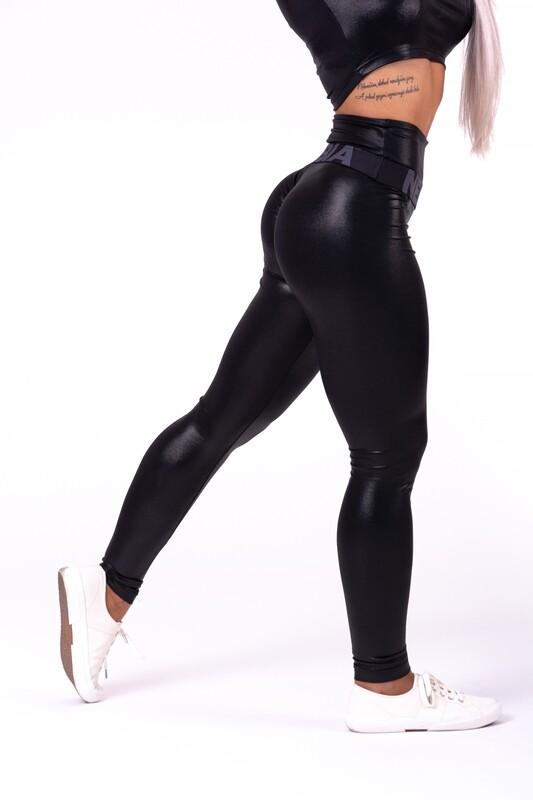 "Леггинсы High waist ""Sandra D"" glossy leggings 656"