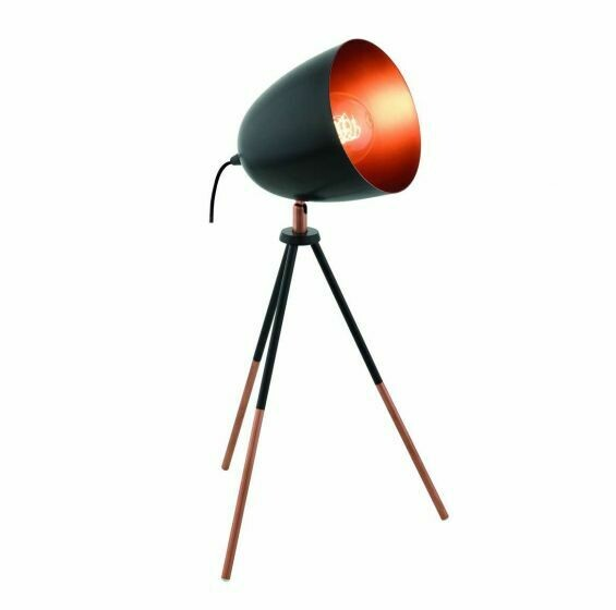 Chester Black/Copper Table Lamp 49385