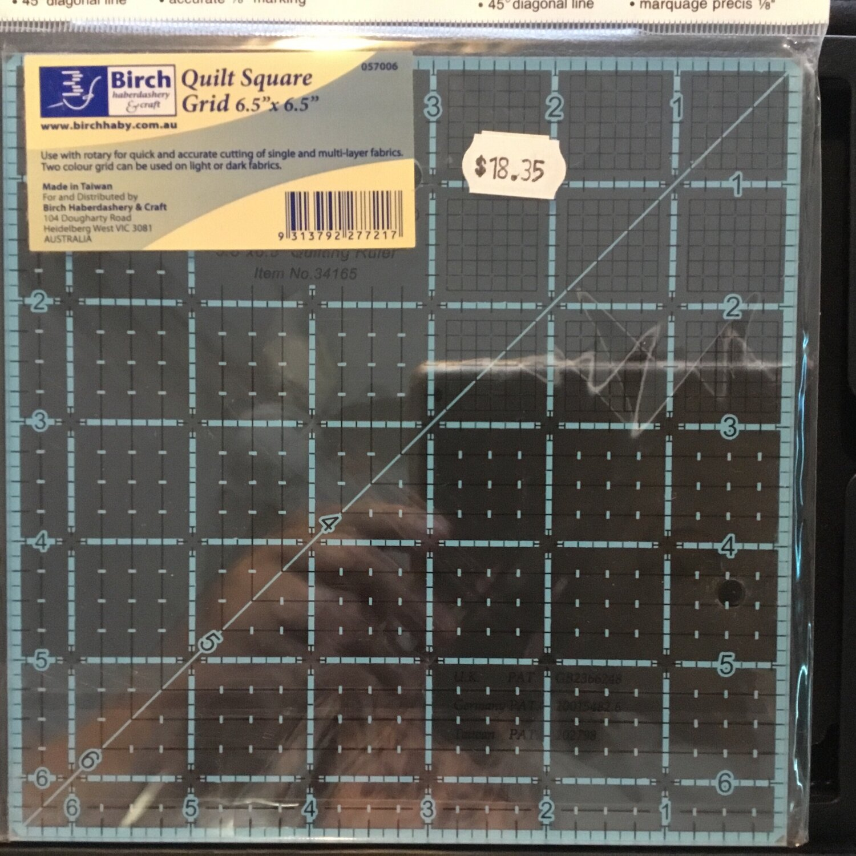 "Birch Quilt Grid 6.5"" Square"
