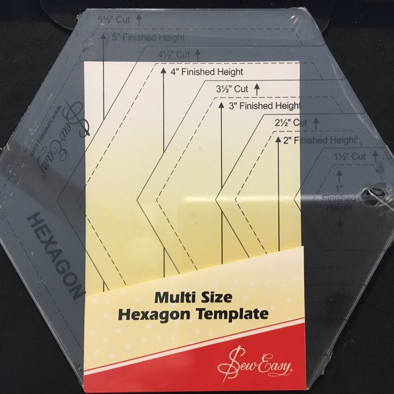 "Sew Easy Hexagon Multi Size 1"" - 5"" (NL4170)"