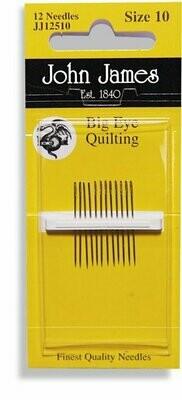 John James Quilting #10 Big Eye Pkt (JJ12510)