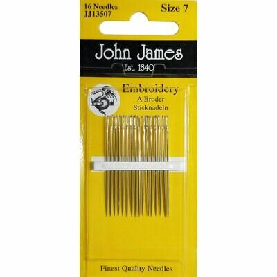 John James Embroidery #07 pkt (JJ13507)