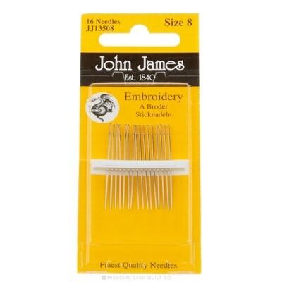 John James Embroidery #08 pkt (JJ13508)