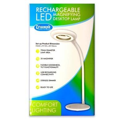 Triumph LED Desktop Rechargable White (OD200)