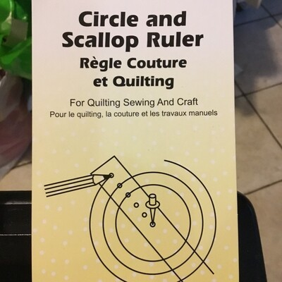 Sew Easy Circle & Scallop Ruler 18