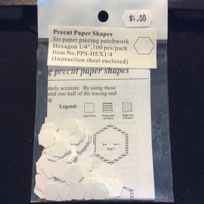 Pre-Cut Hexagon 0.25