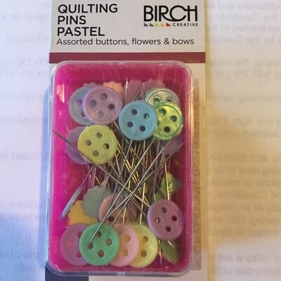 Birch Quilting Pastel Pins 50pc (012009)