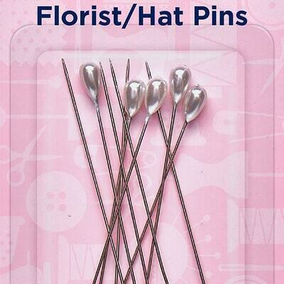 Hemline Florist/Hat Pins 65mm (711)