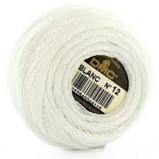 DMC116 Perle 12 Ball Blanc - White