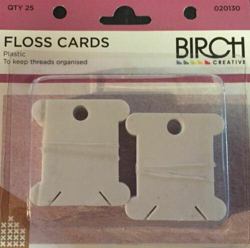 Birch Plastic Floss Cards 25/pkt (020130)