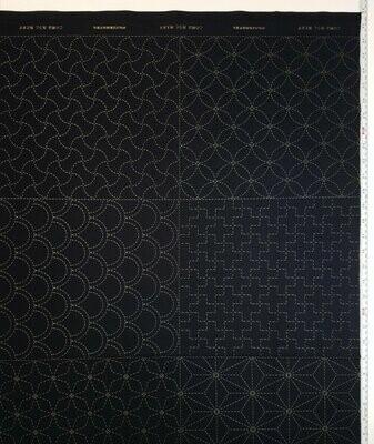 Sashiko Design Panels (8 design set) Navy