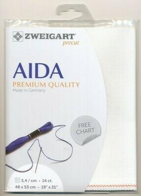 Aida 14ct Fat Qtr White (FQ3706.100)