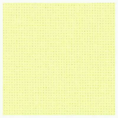 Aida 14ct w.110cm Pale Yellow (3706.2030) /10cm increment