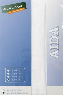 Aida 18ct Fat Qtr Antique White (FQ3793.101)