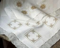 Anne Cloth Afghans 18ct w.145cm White (7588.100) /10cm increments