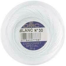 DMC Cordonnet #60 Cotton Blanc - White