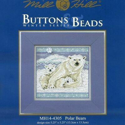 Mill Hill Buttons & Beads Winter Series - Polar Bears (MH14-4305)